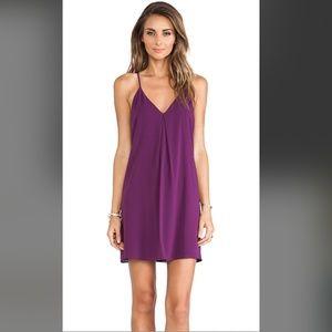 Alice + Olivia EUC Purple Fierra Y-Back Dress